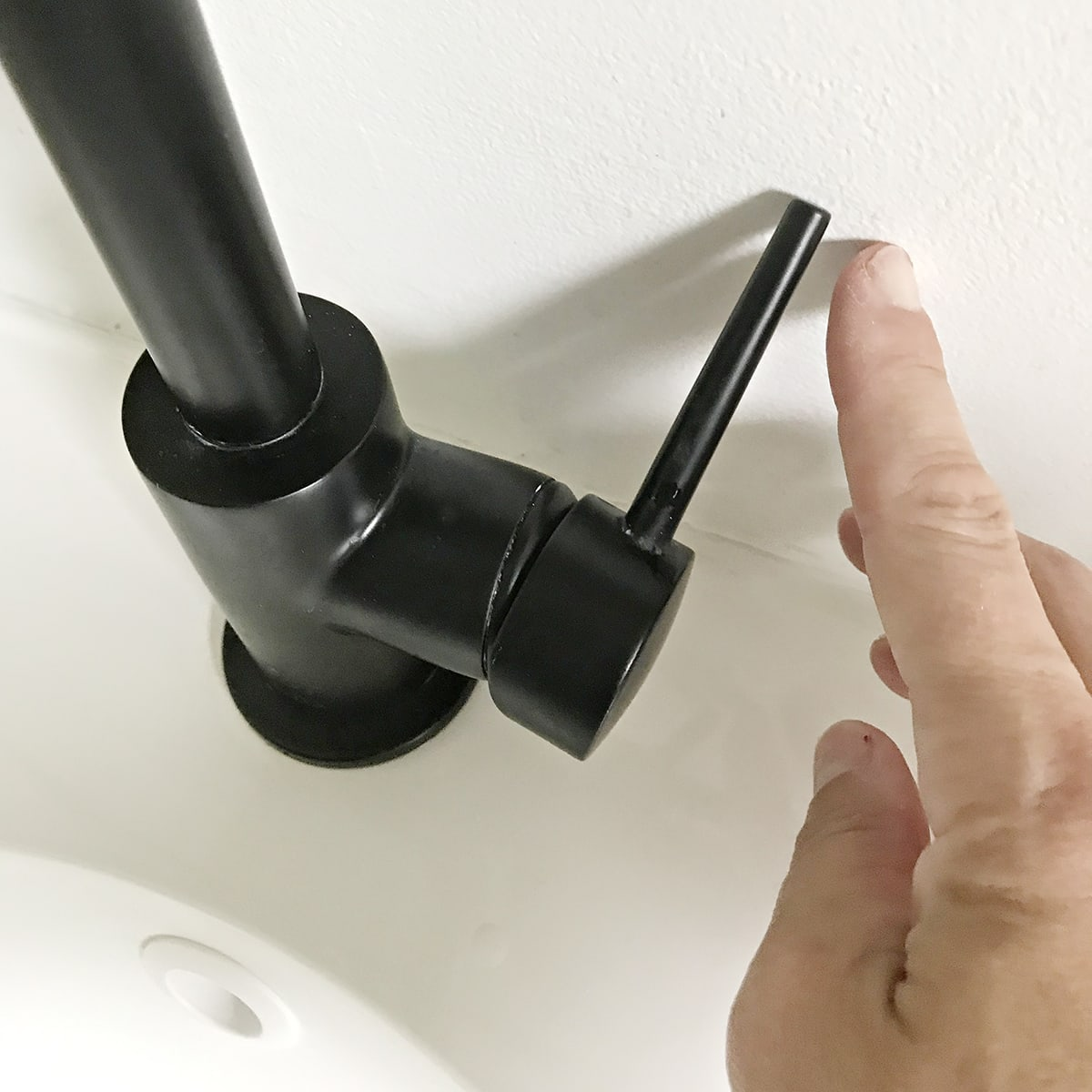 installing a Delta Touch faucet on an Ikea floating vanity ...