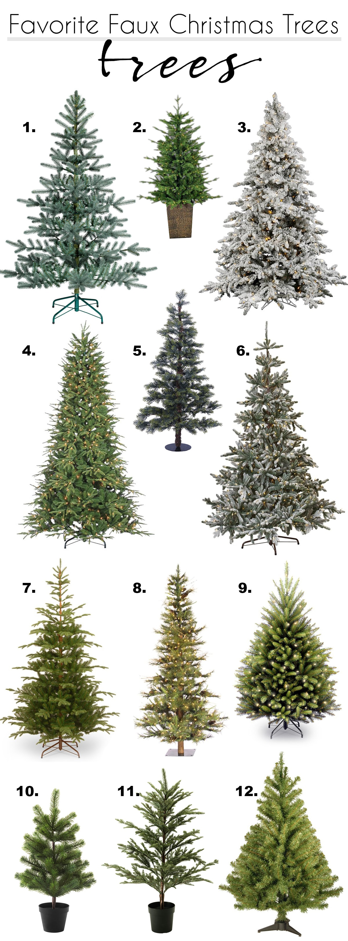 my favorite faux Christmas Trees   I own 3, 10 and 12 and love them