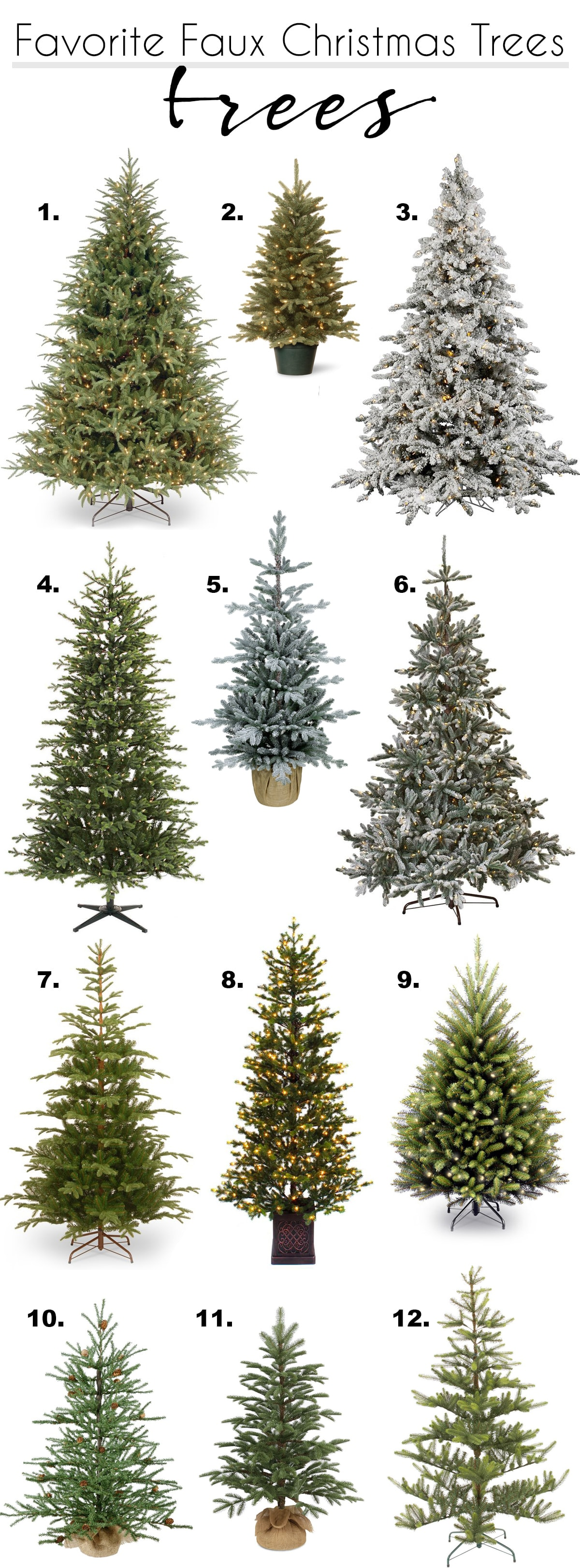 my favorite faux Christmas trees