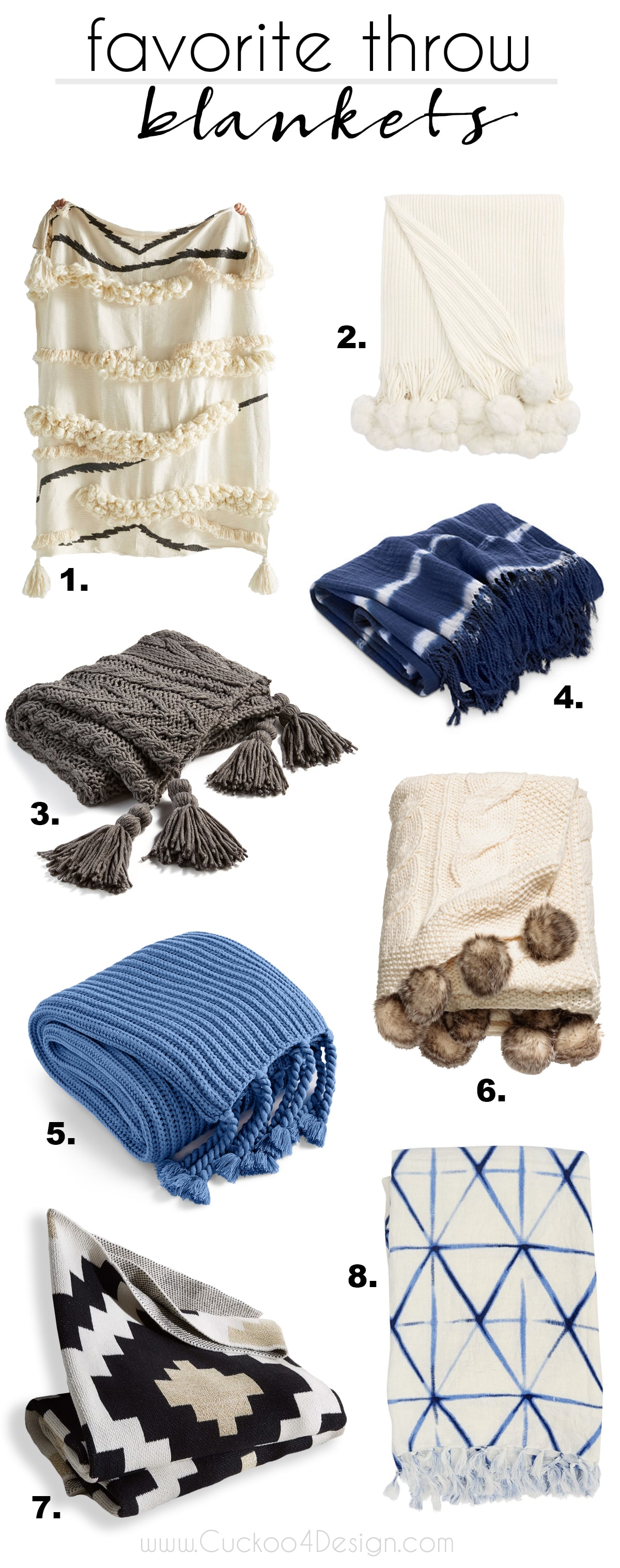 Gift Guide: Favorite Cozy Throw Blankets | every house needs a pretty and cozy throw