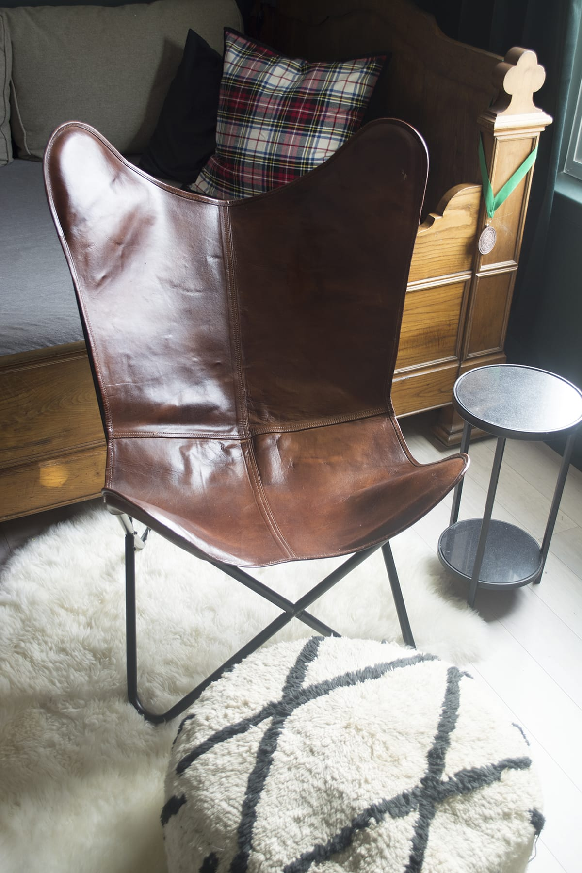 leather furnishings hide travel butterfly decor home iron furniture with accessories zoom white black cow and frame lighting chair