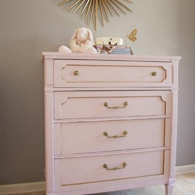 Pink Chalk Paint Dresser