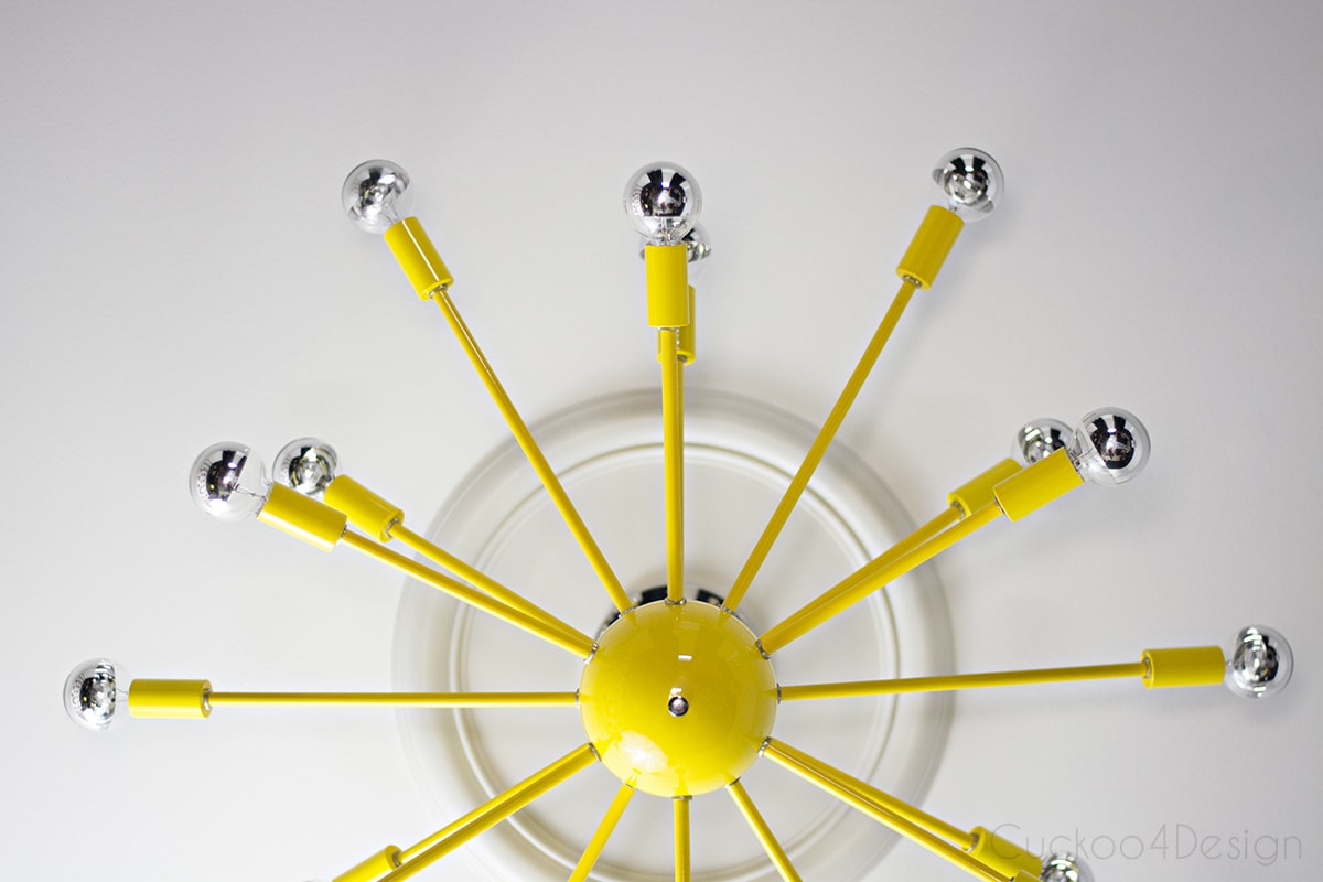 yellow sputnik light fixture