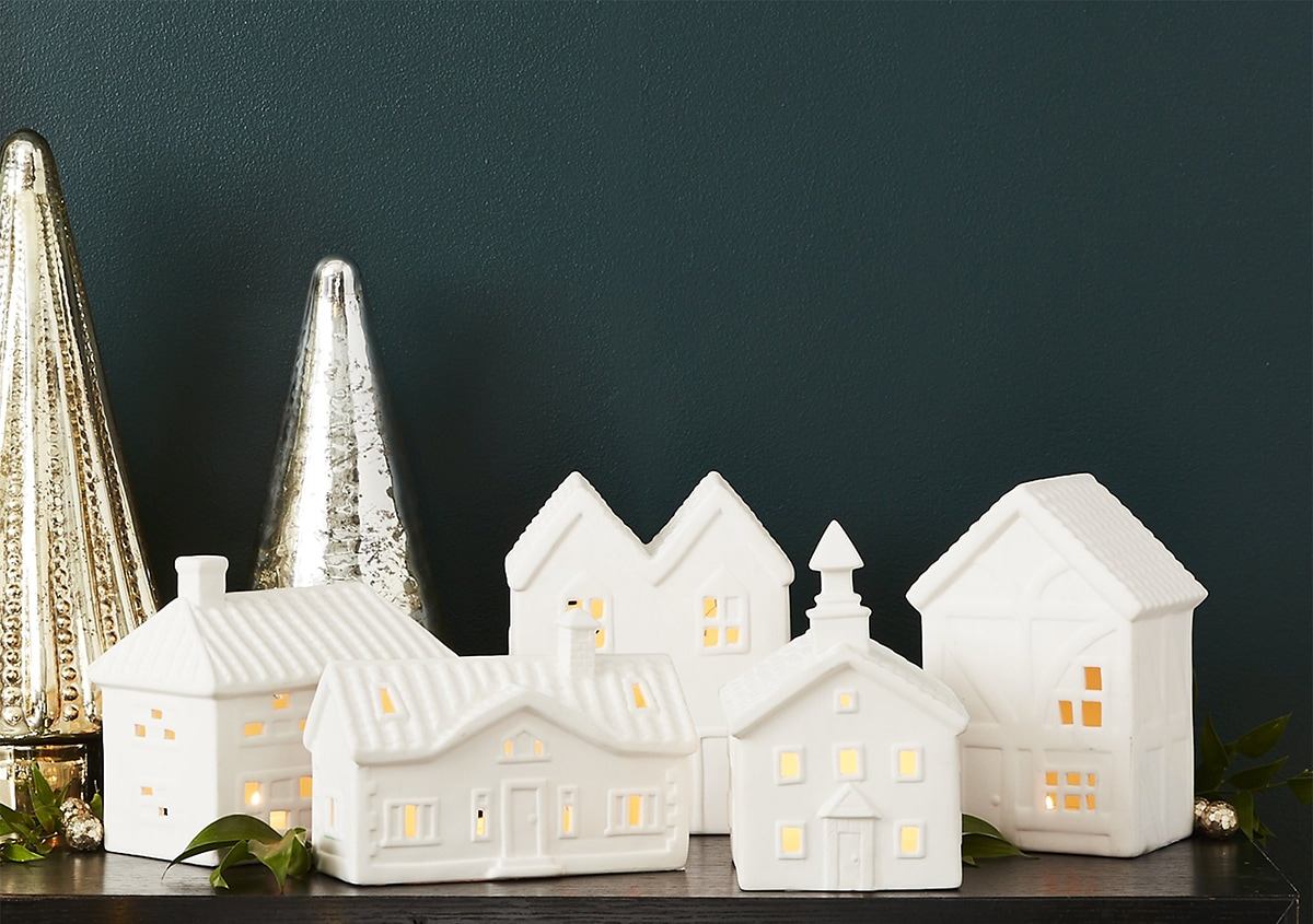 white candle houses
