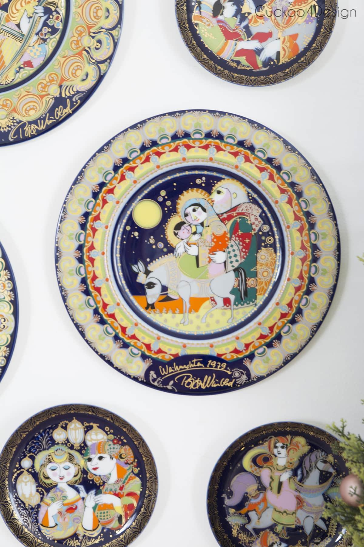 vintage Björn Wiinblad Christmas plates by Rosenthal