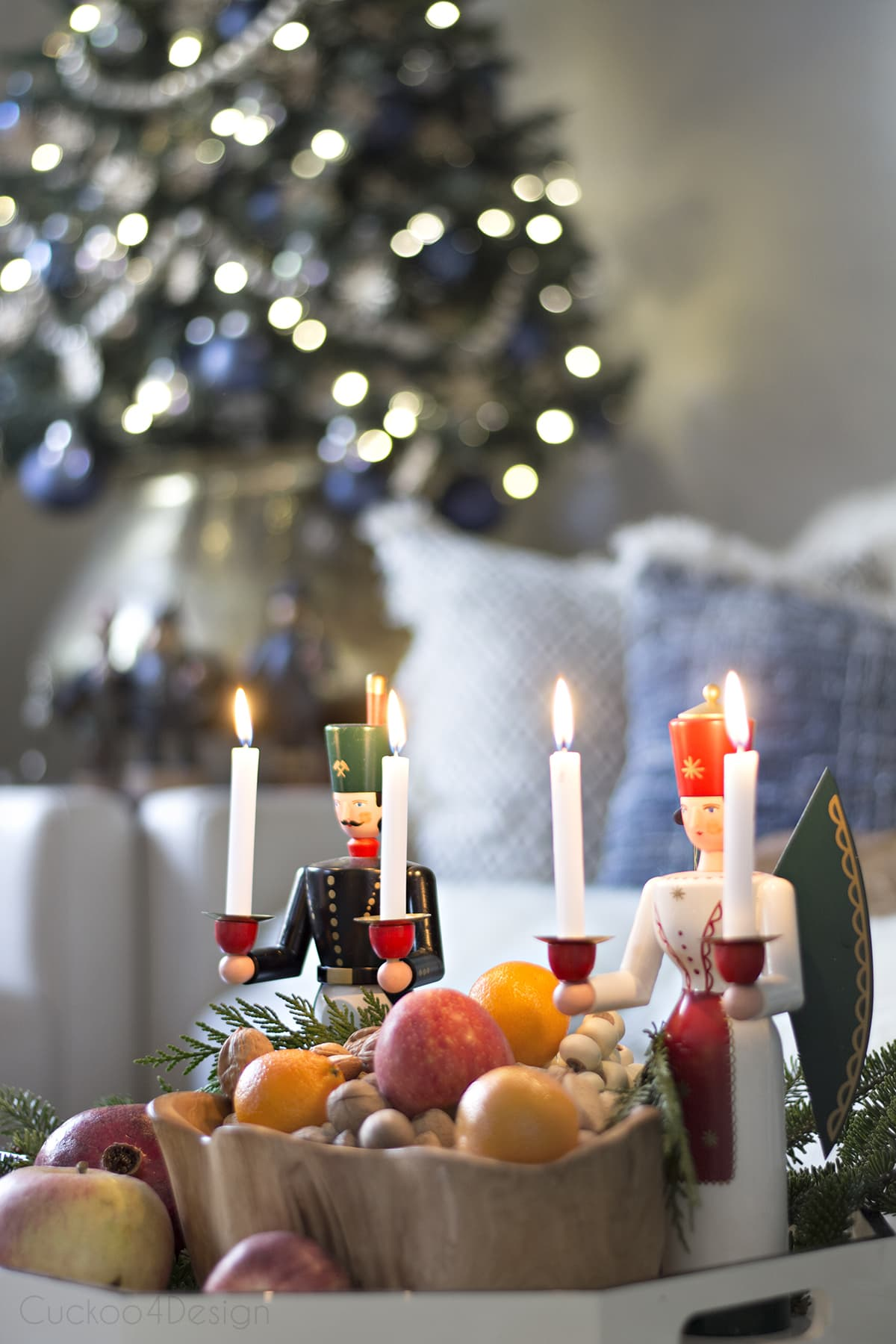 modern take on traditional European/German Christmas decor