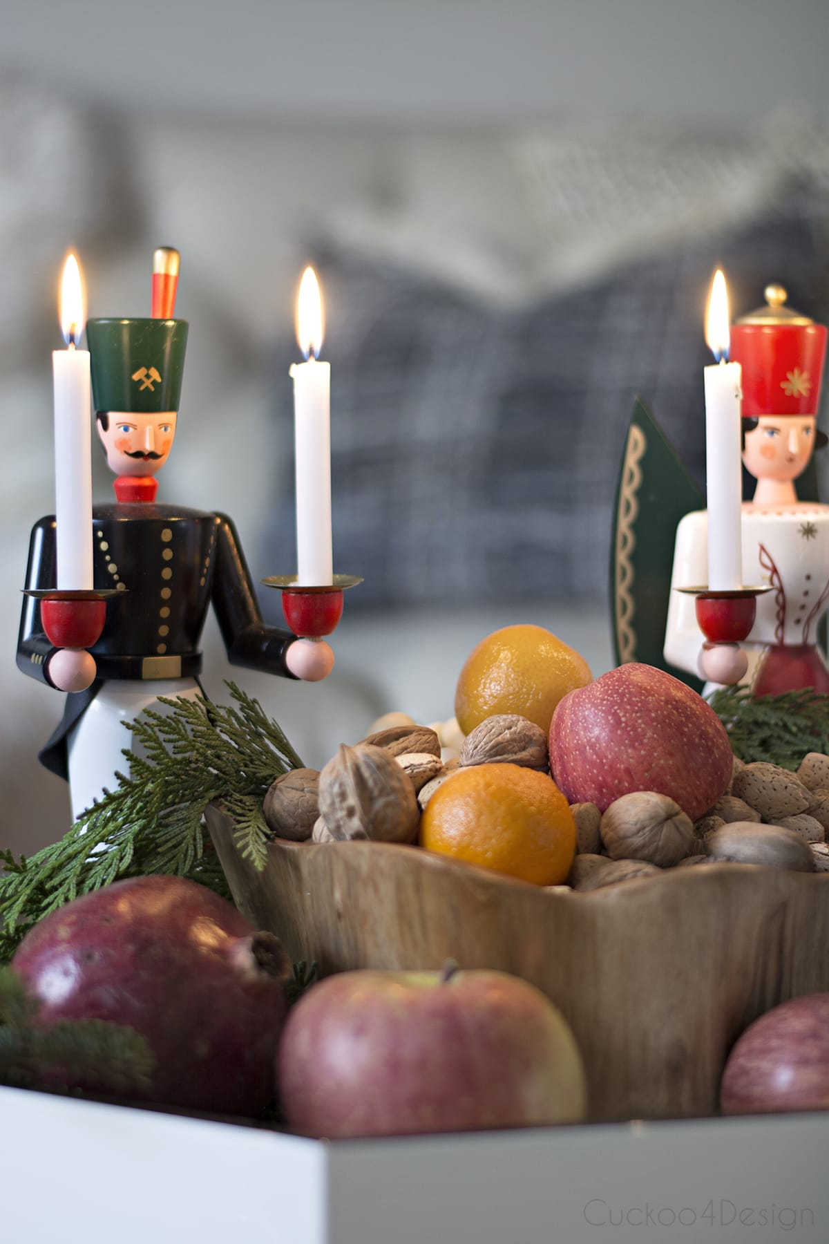 modern take on traditional European/German Christmas decor