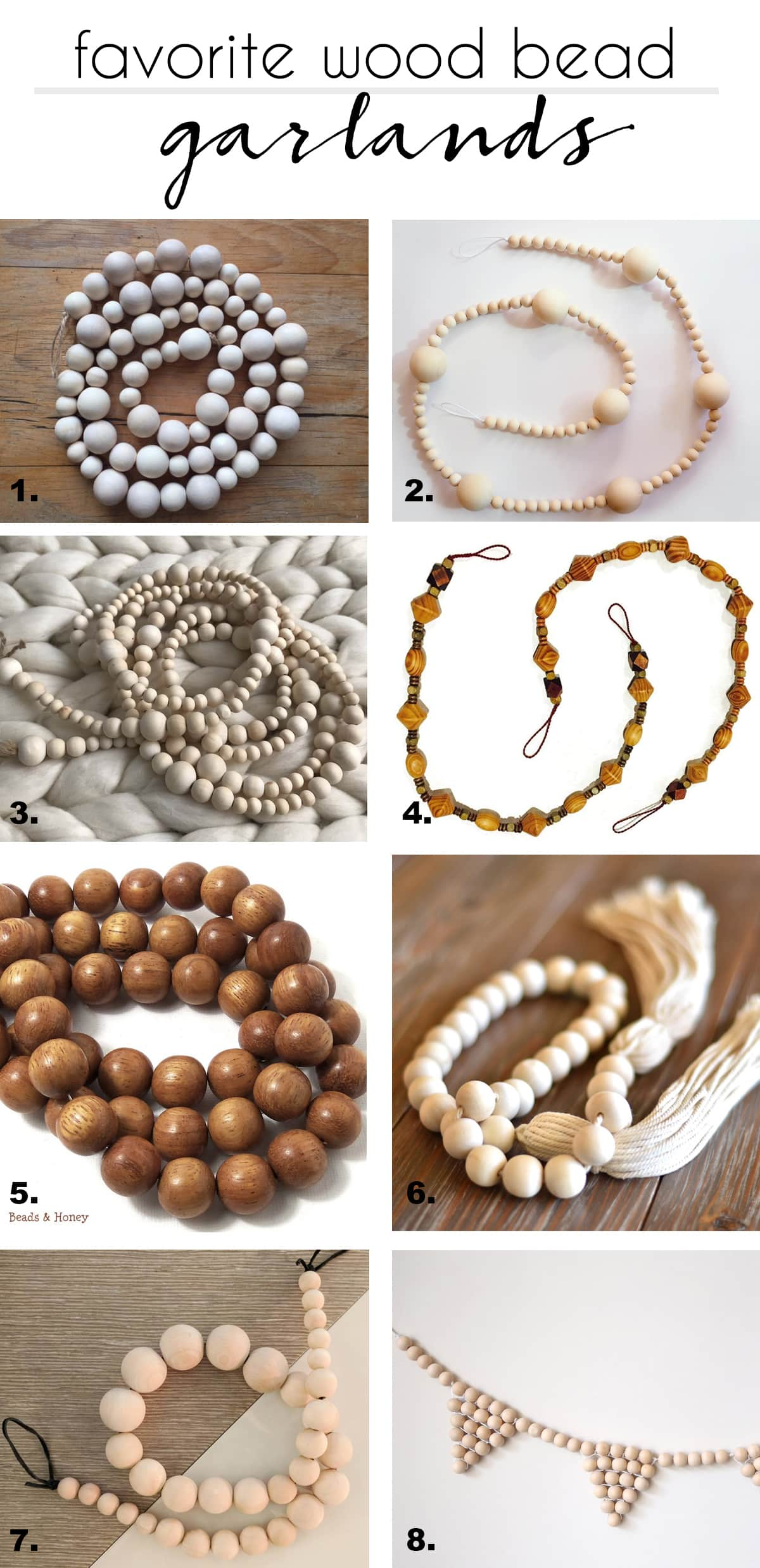 favorite handmade wood bead garlands