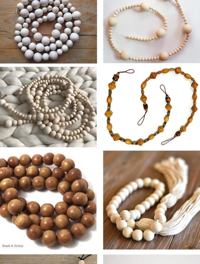 Friday Favorites: Handmade Wood bead garlands