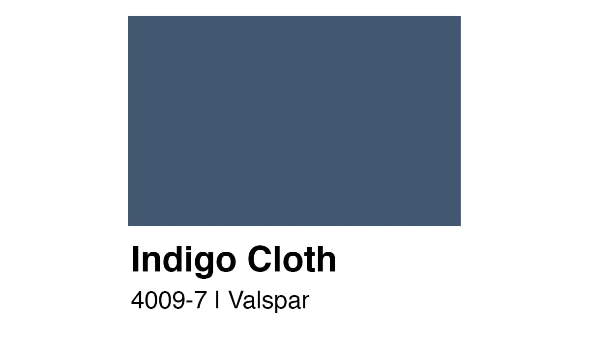 beautiful dark blue wallcolor Valspar Indigo Cloth