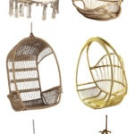 10 Stylish Hanging Chairs | rattan hanging chair | acrylic hanging chair | bubble hanging chair | mod hanging chair | boho hanging chair | macrame hanging chair | wicker hanging chair | retro hanging chair