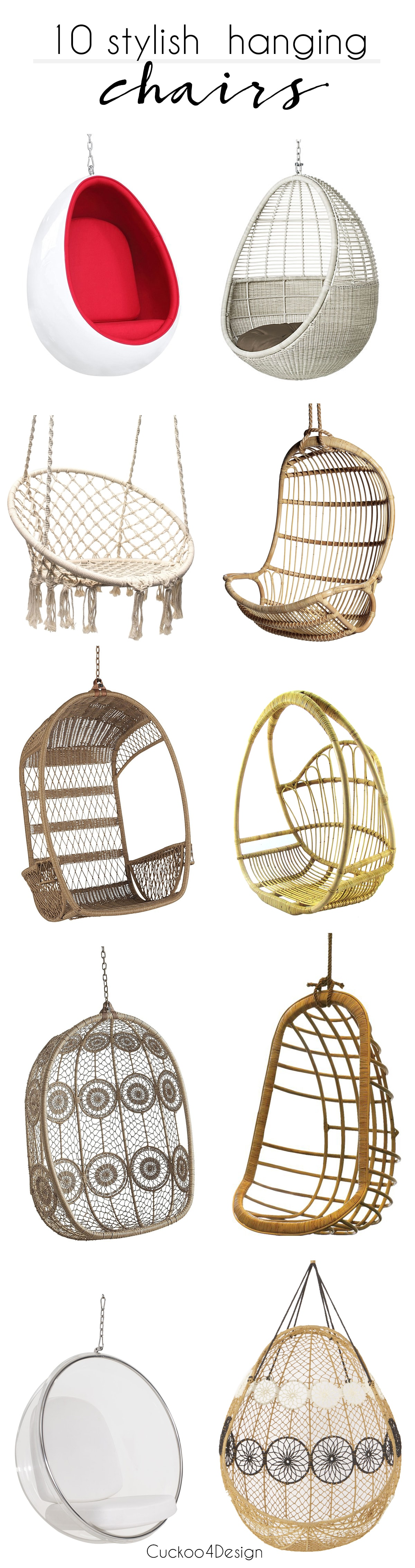 Friday Favorites: 10 Stylish Hanging Chairs