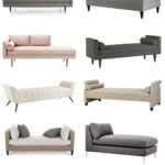 14 most stylish upholstered chaises and benches