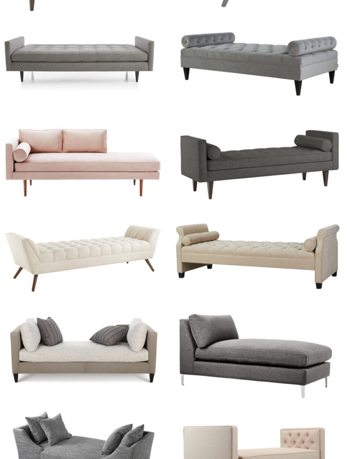Friday Favorites: upholstered chaises