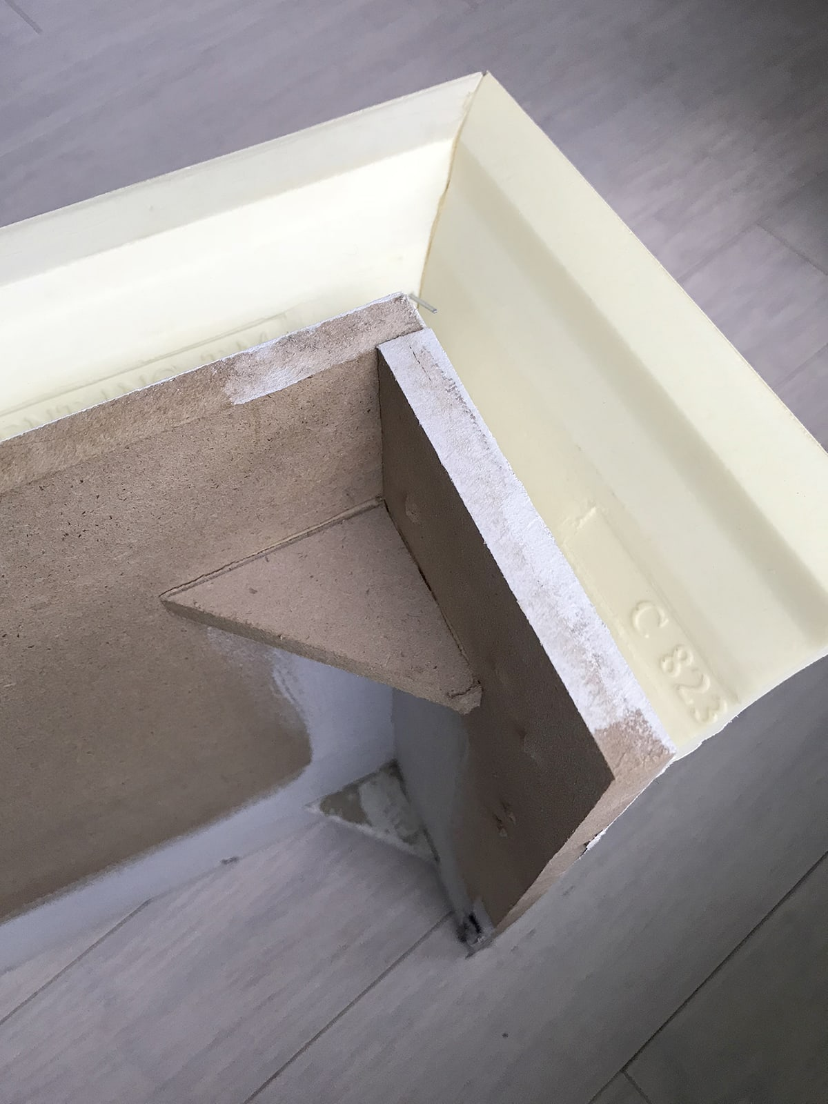 How to build a painted window cornice