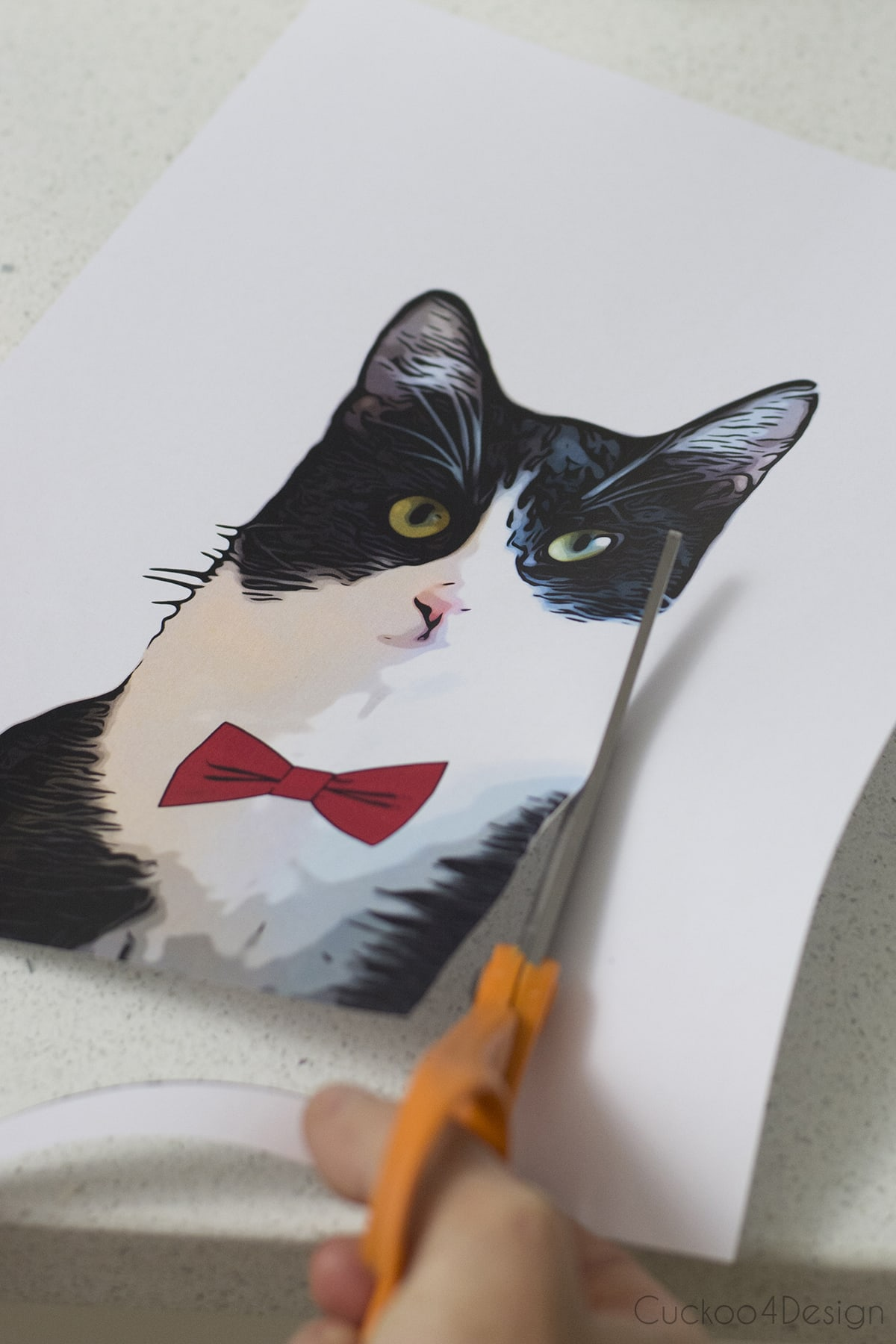 cutting out your cartoon image of your pet