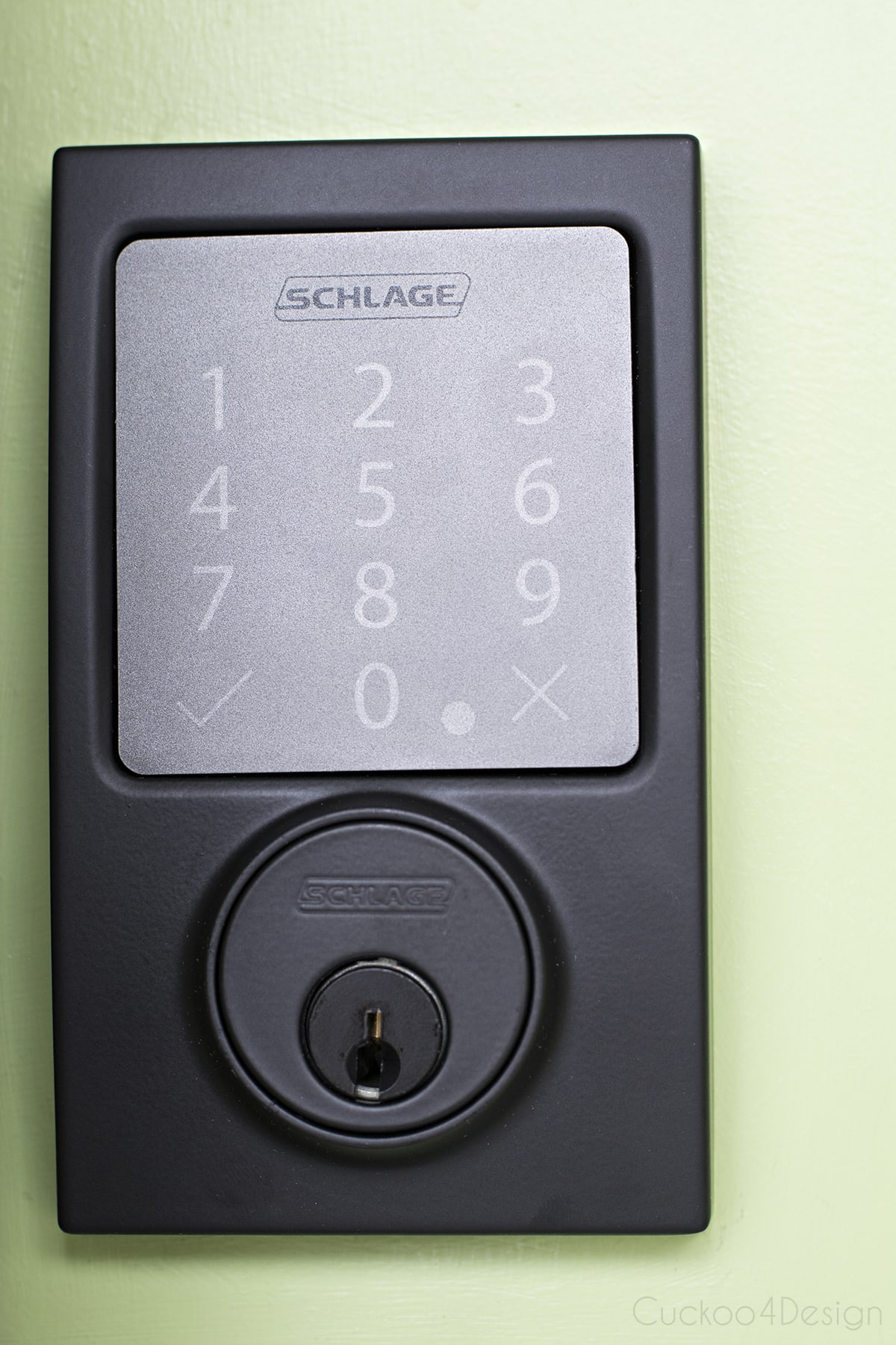 Our New Schlage Bluetooth Smart Door Lock Cuckoo4design