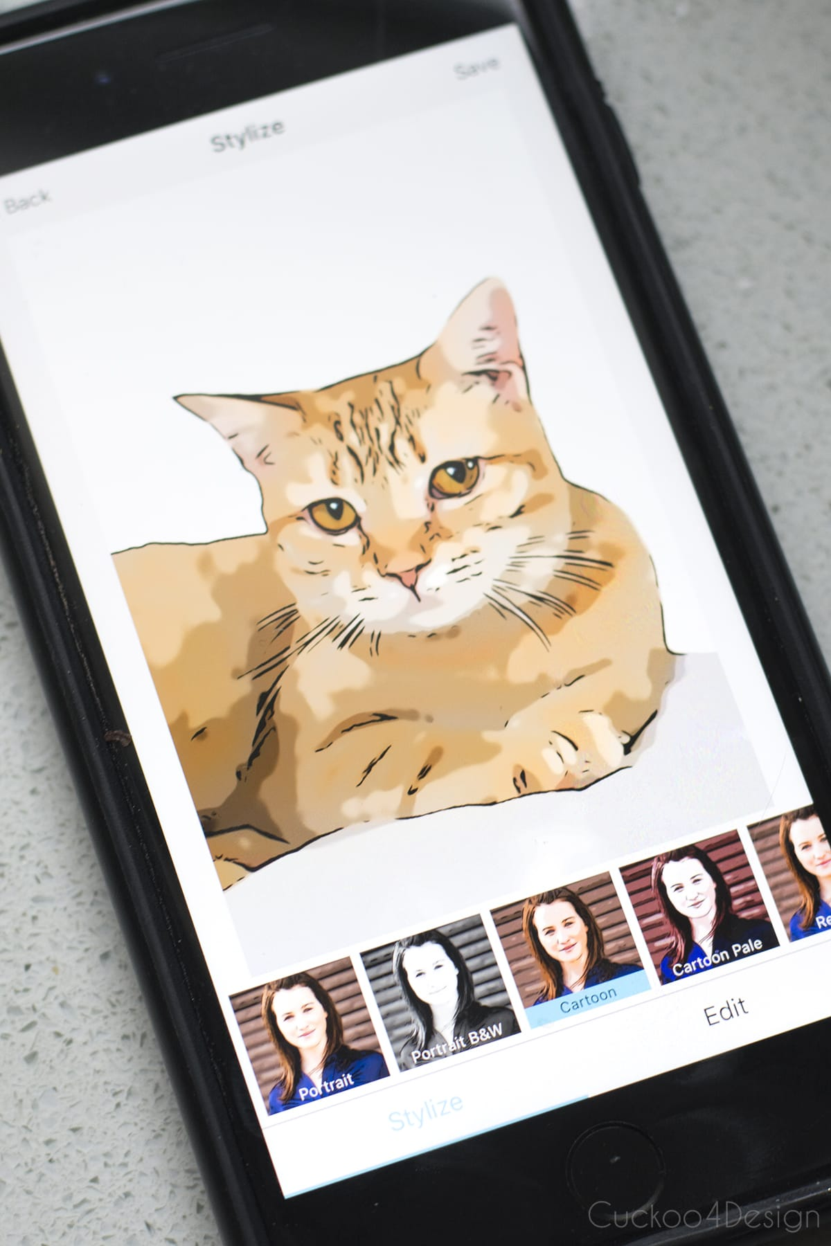 How to turn your pet portraits in to sketched cartoon art with the help of a free app
