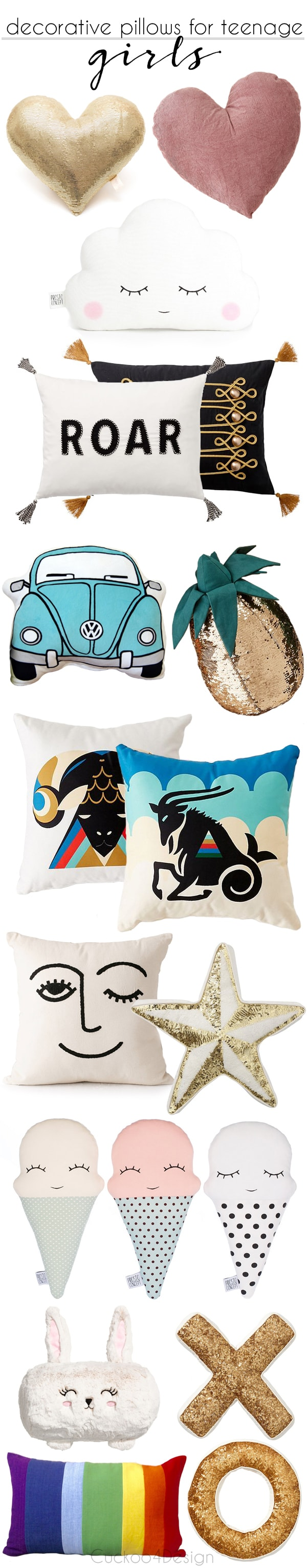best decorative throw pillows for teenage girls | fun throw pillows | decorating for kids | decorating with teenagers | whimsical pillows | chic accent pillows for girls and teen girls bedroom decoration | Fun Girl's Bedroom Decor Ideas | Cute Room Decorating for Girls |  girl room decoration | girl room themes for tweens | teenage girl room decor ideas