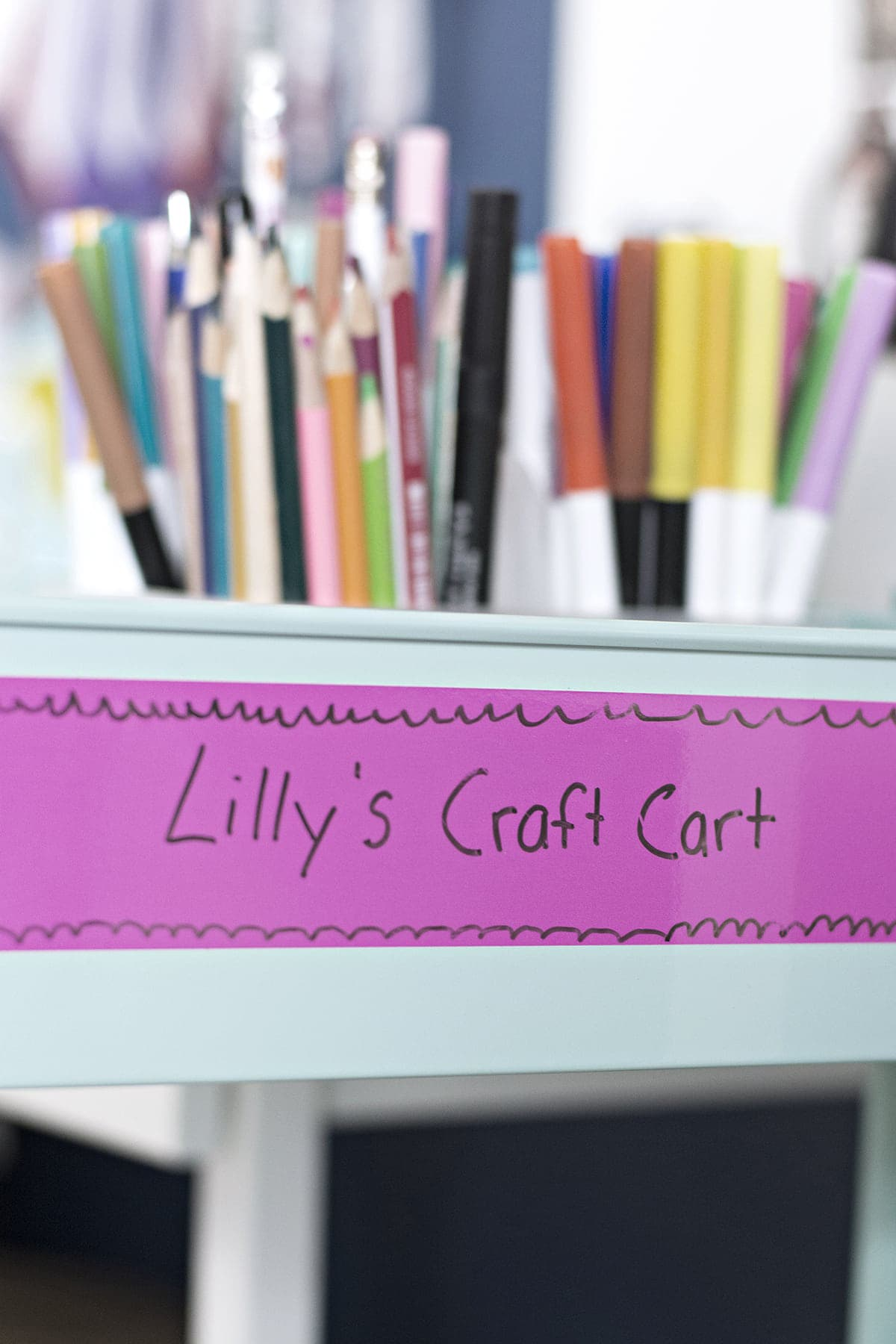 kids crafting cart