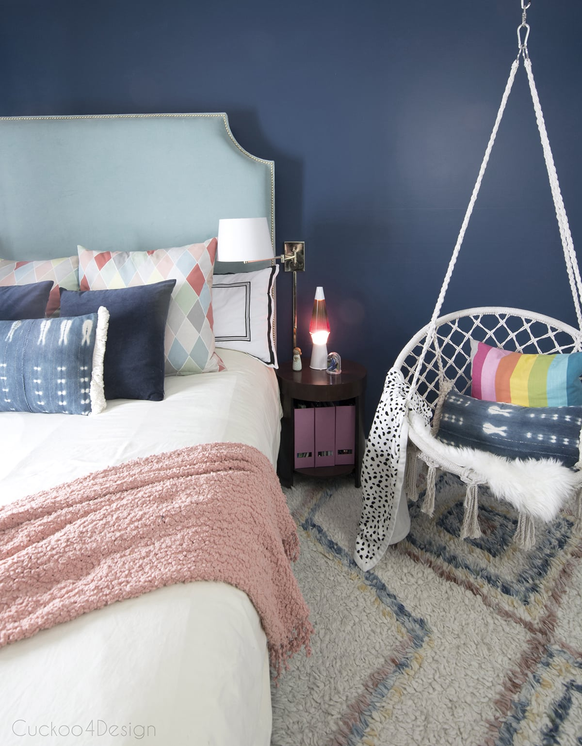 Dark Blue Girls Room | Cuckoo4Design
