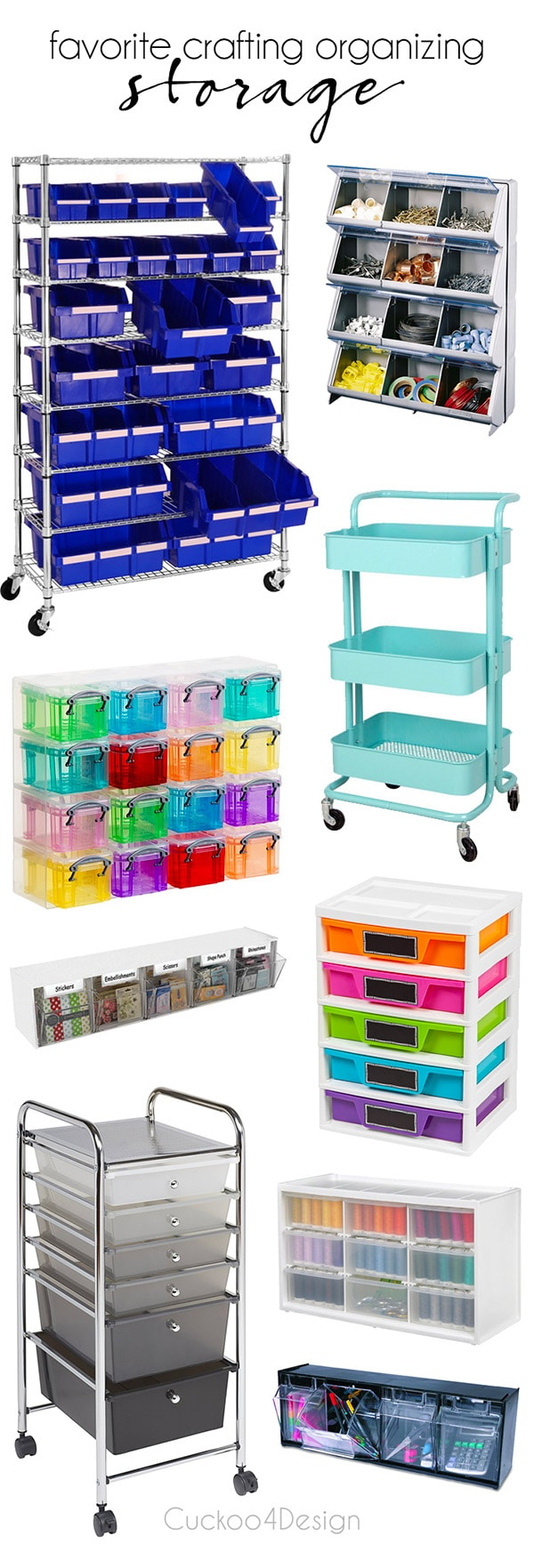 favorite crafting organizing storage | rolling craft cart | rolling storage | craft storage | craft organizing | slime organizing | slime storage | crafting storage | drawer storage | tilt bins | #craftstorage #slimestorage #crafting
