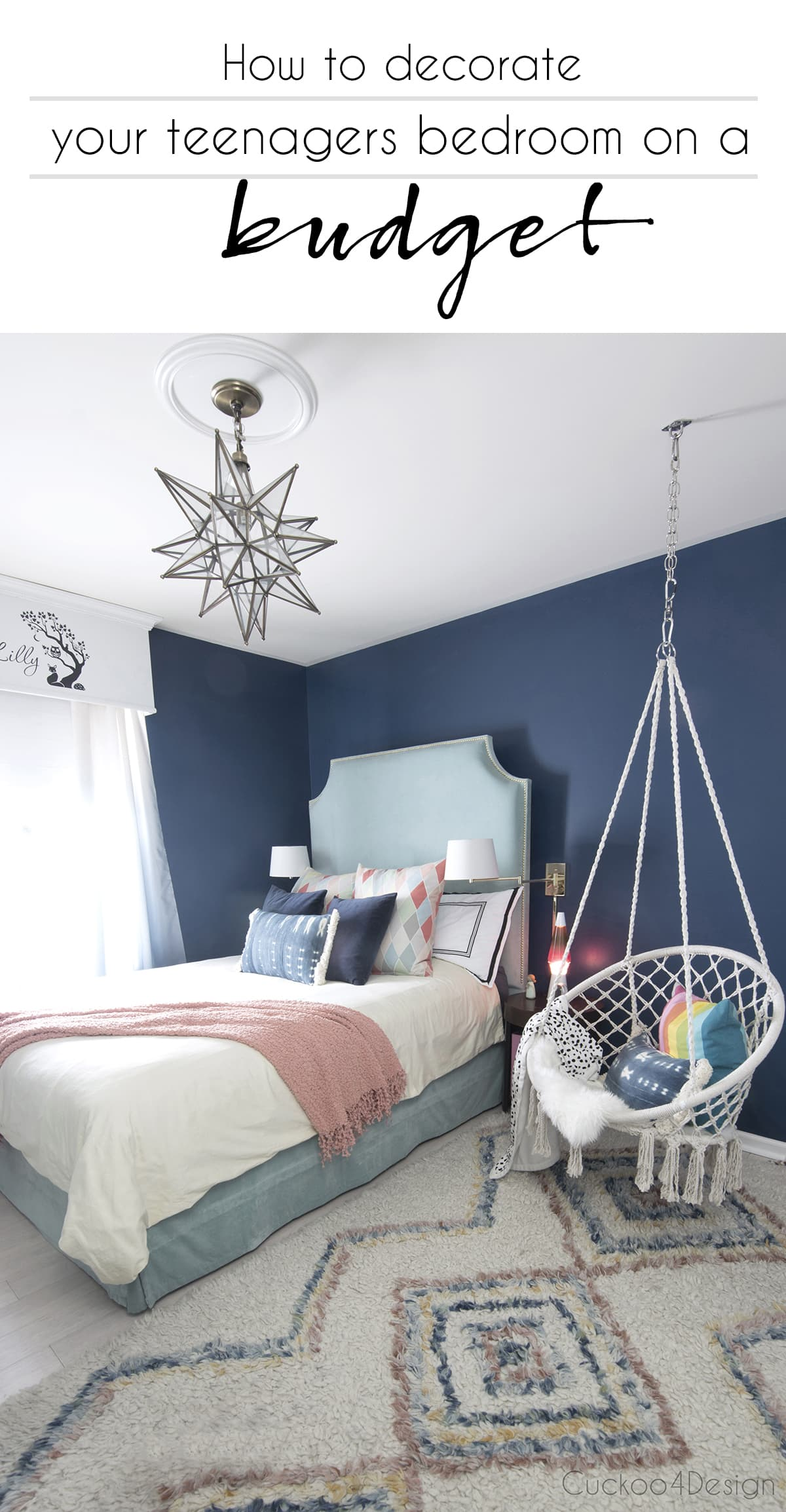cheap ways to decorate a teenage girl's bedroom