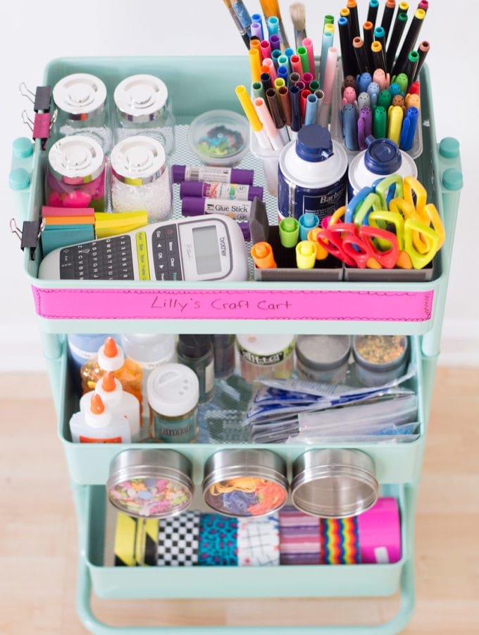 How to organize your slime supplies