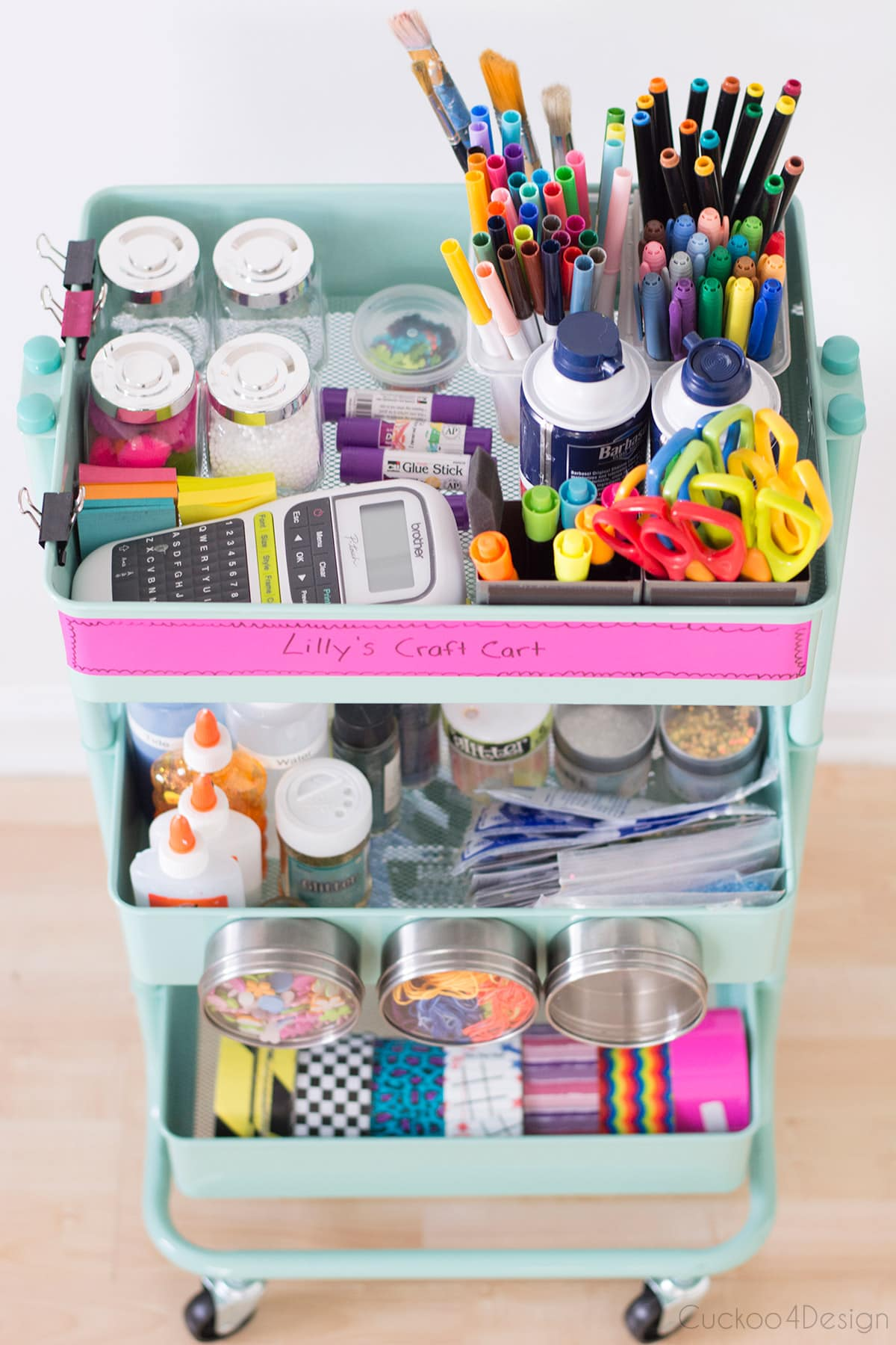 Slime supplies storage cart