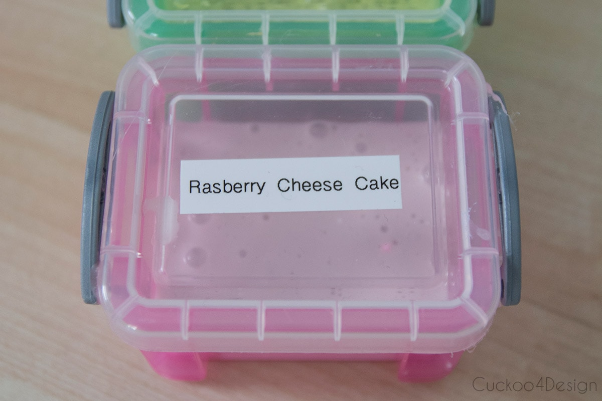 slime labeling and storage