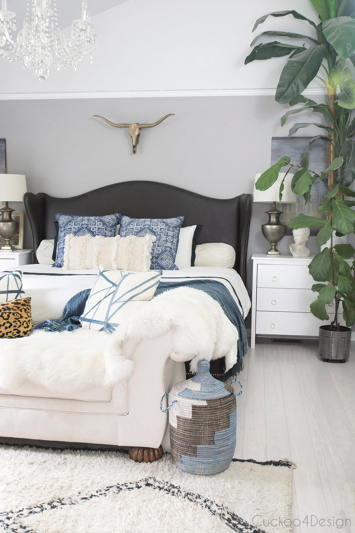 tips for decorating your bedroom on a budget in a neutral eclectic and bohemian style