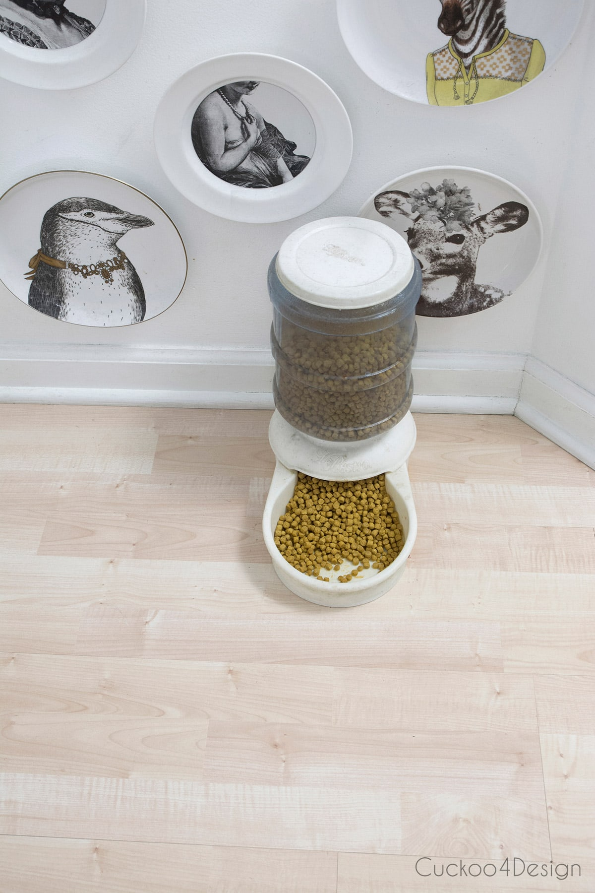 cleaned pet food bowl mess after using BISSELL crosswave pet pro