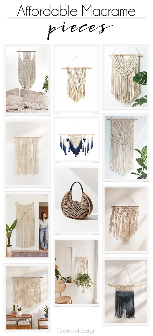 affordable macrame pieces | cheap macrame wall art | affordable macrame wall art | yarn art | fiber art | boho decor | bohemian decor | #macrame #walldecor