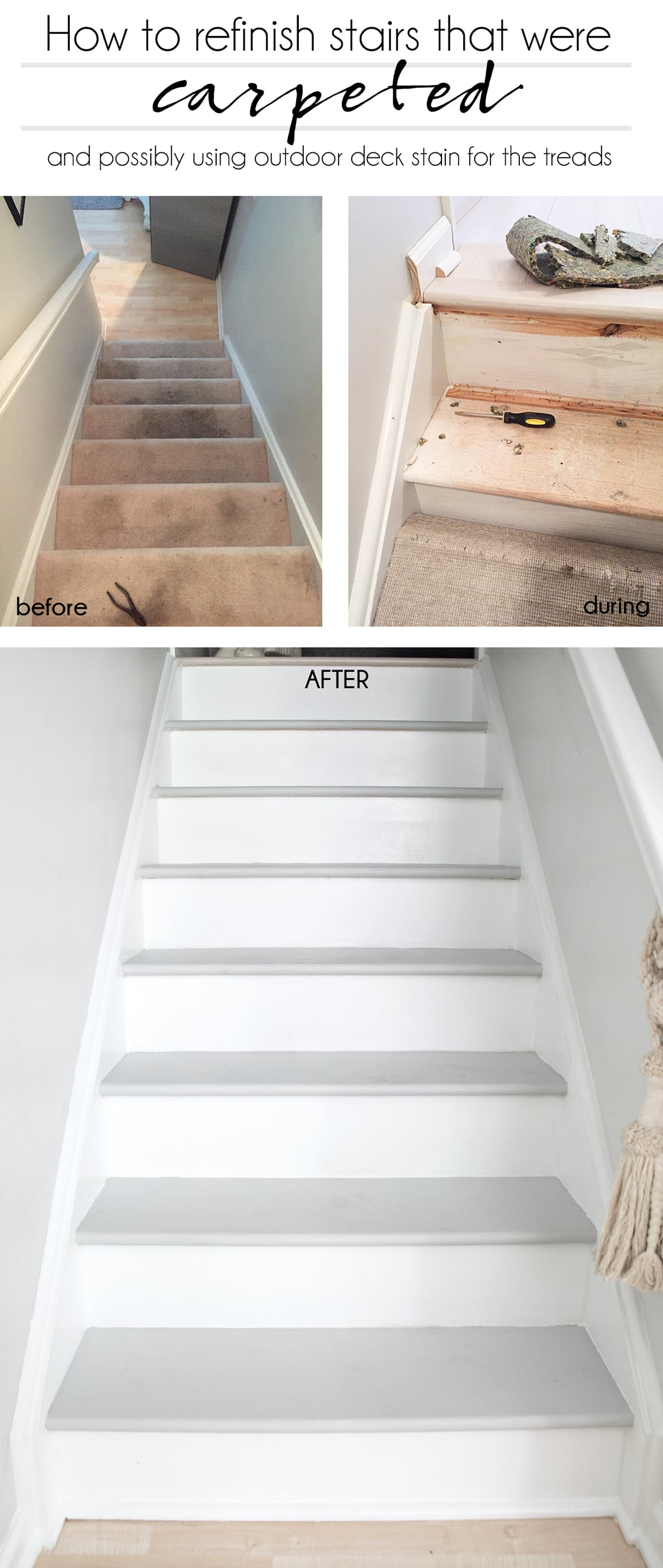 How to refinish stairs that were carpeted