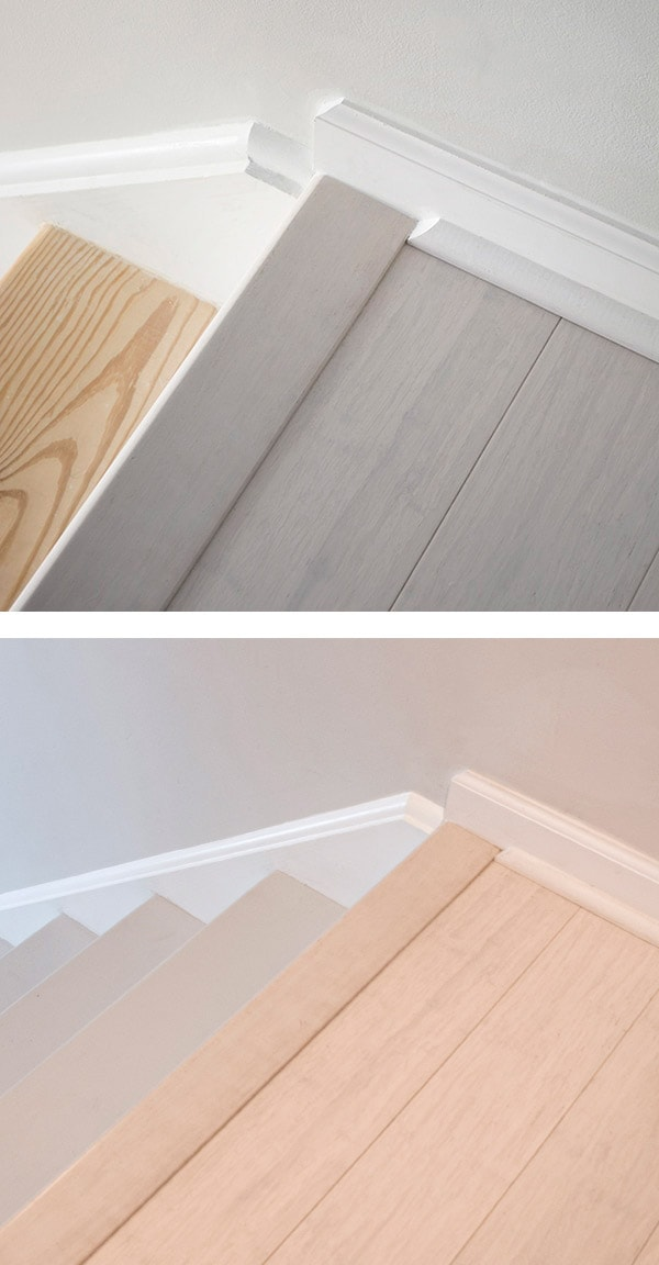 before and after of stairs