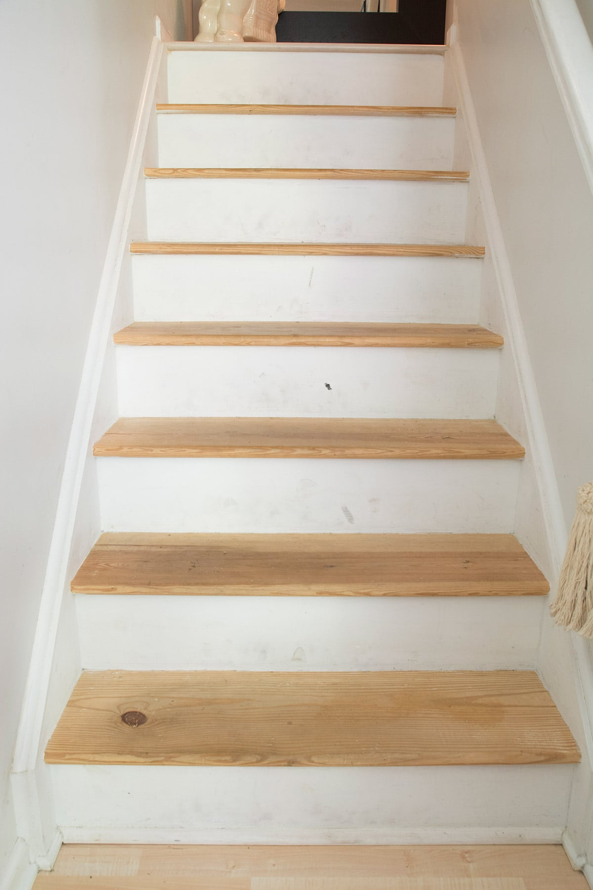 carpet stairs to wood tutorial