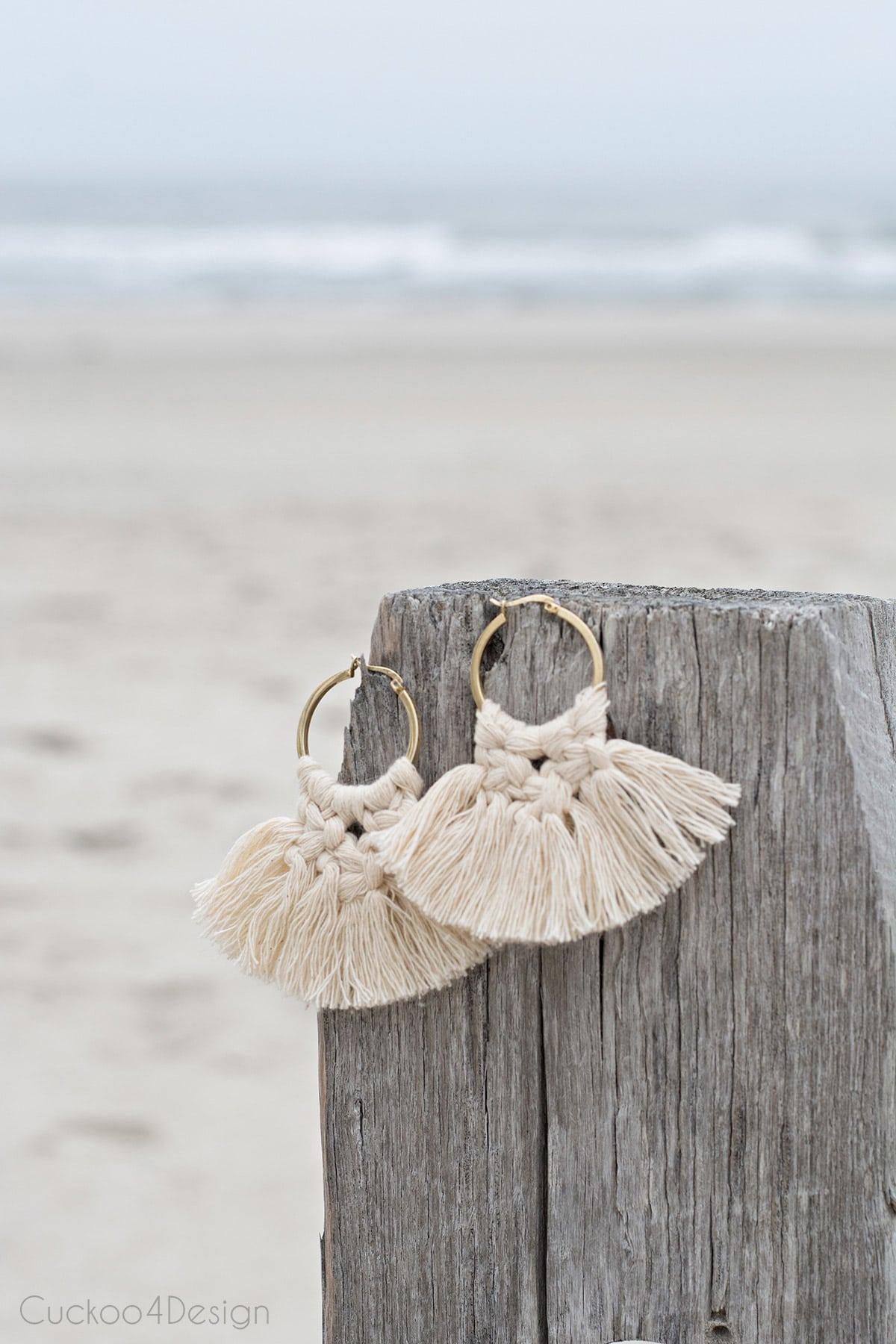 beautiful macrame earrings