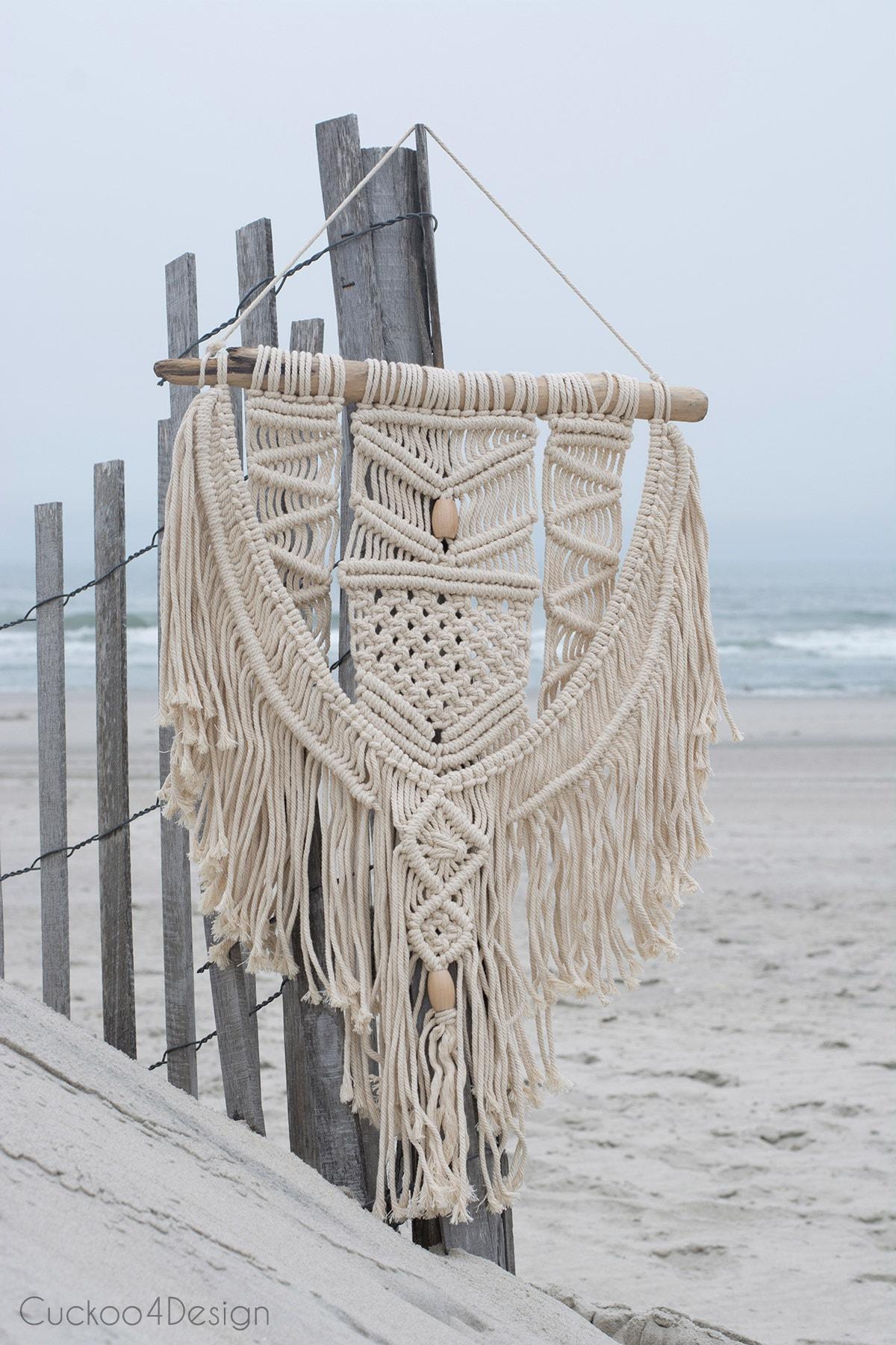 beach macrame wall hanging