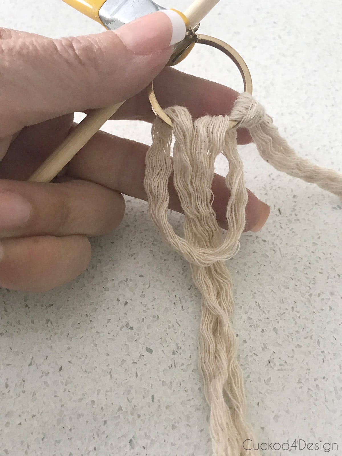 how to make a macrame loop for macrame earrings