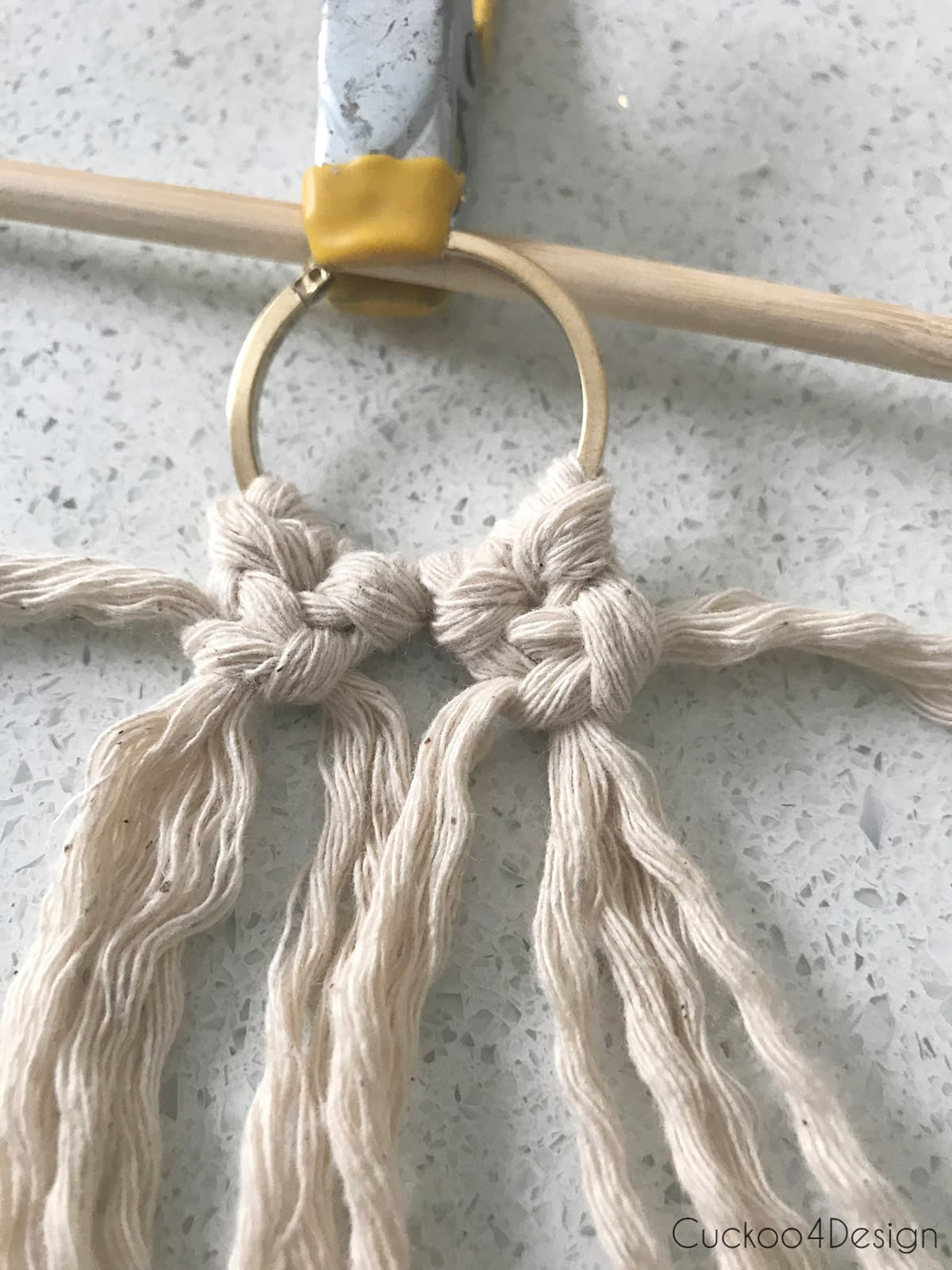 how to make simple macrame earrings
