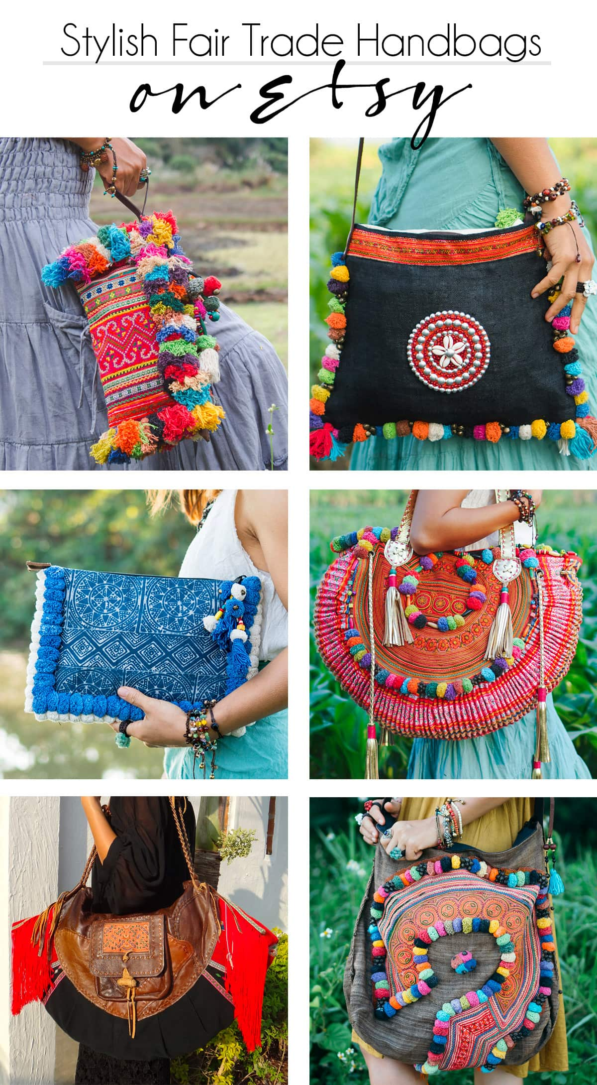 colorful and beautiful Thai handbags