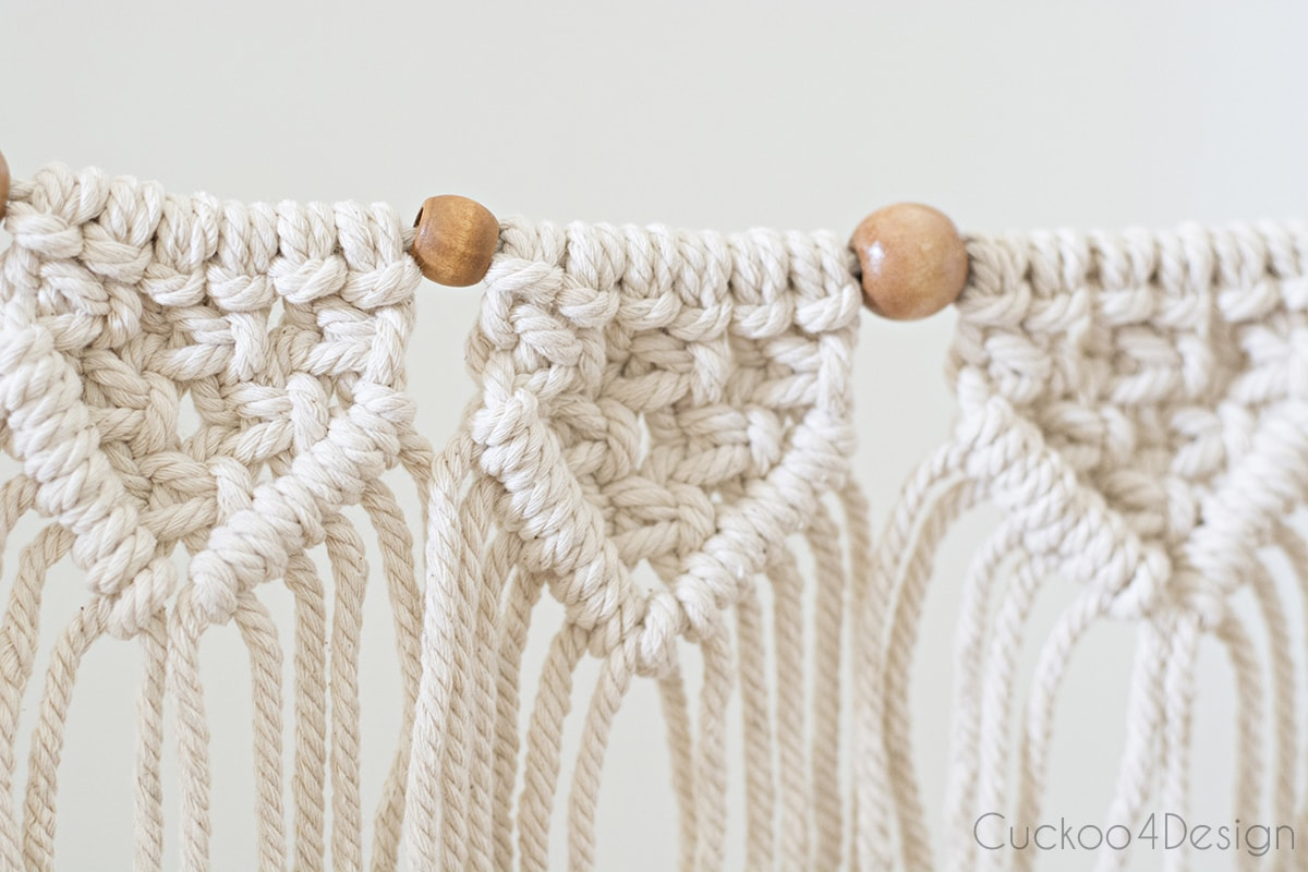 small macrame pieces on beginner macrame garland