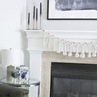 DIY fireplace macrame garland