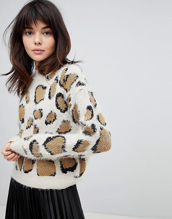 light leopard print sweater