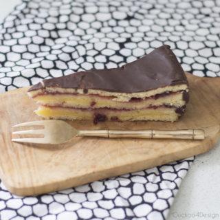 My grandmother's German layered cake called Schichttorte