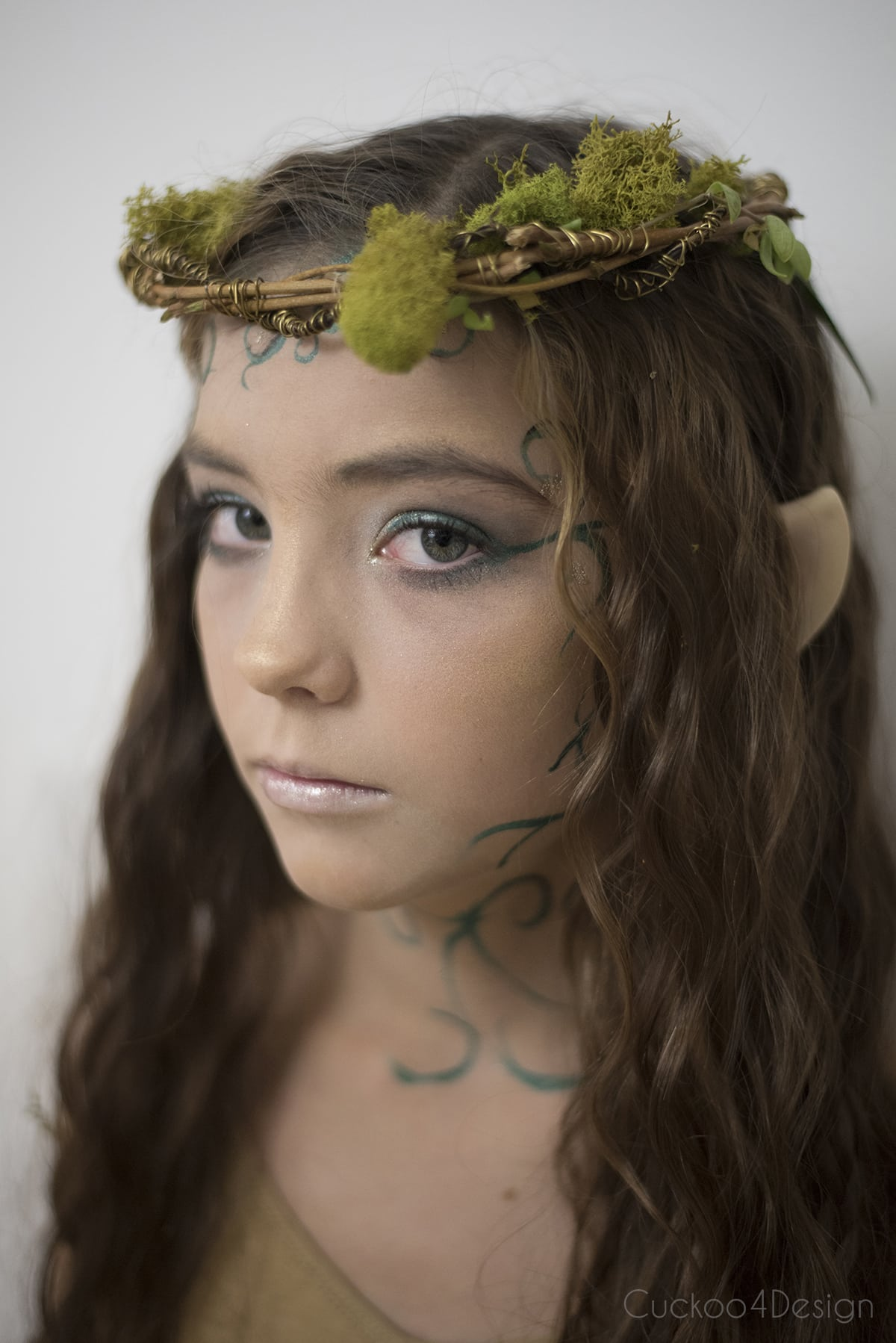forest elf costume makeup