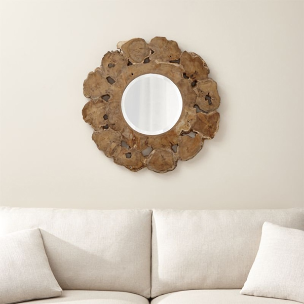 live edge wood boho mirror
