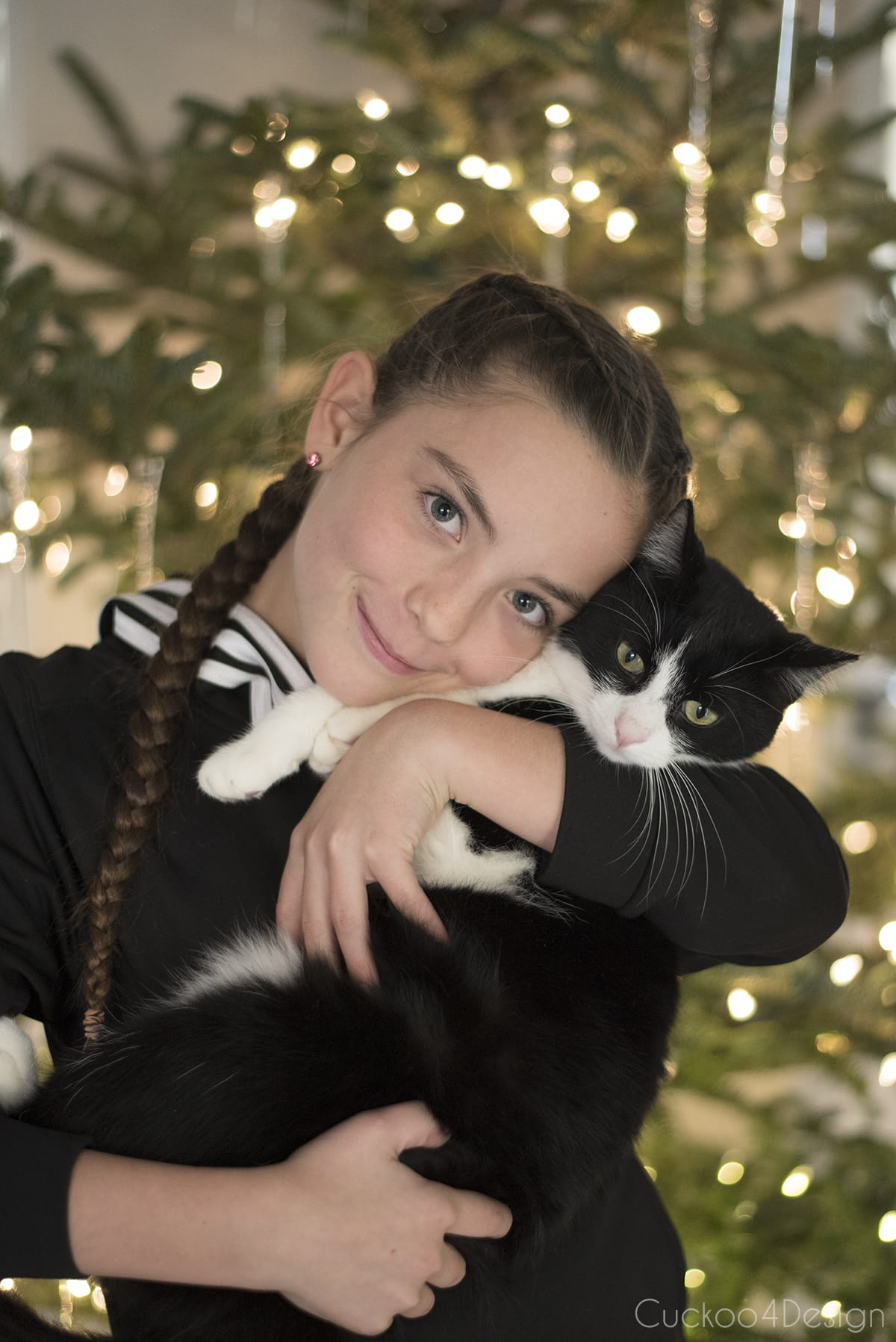 our daughter with our cat