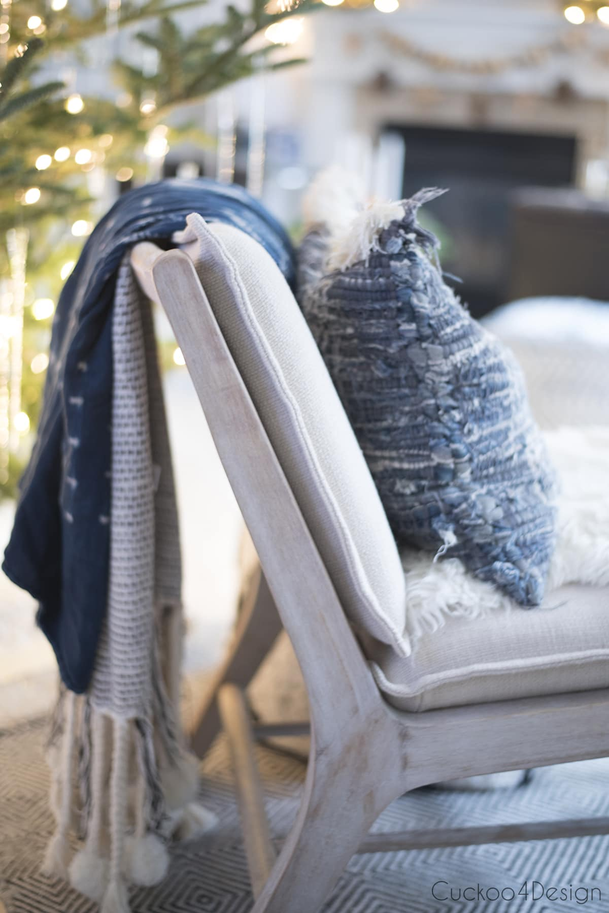 jeans accessories for natural Christmas decorations