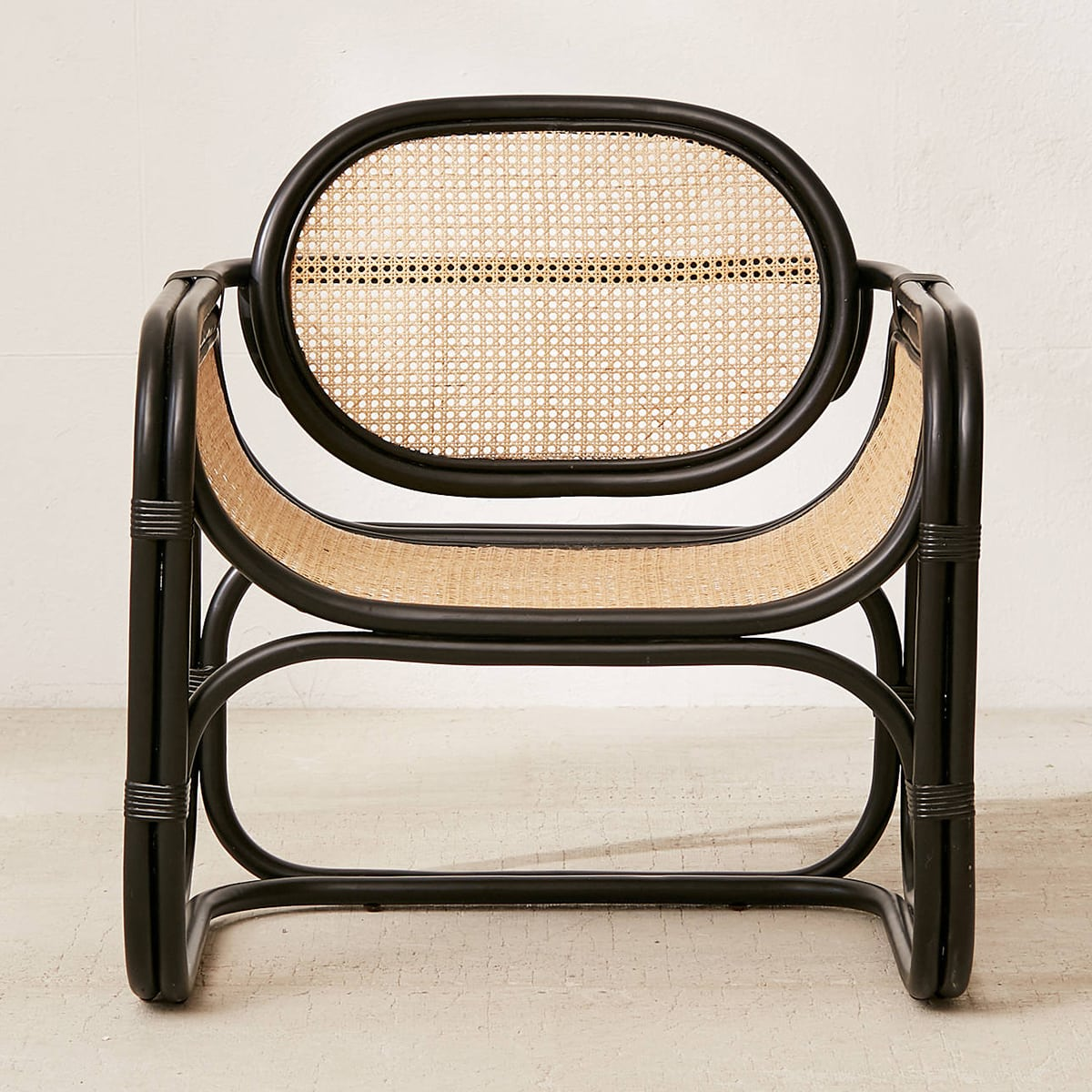 black bamboo and cane chair